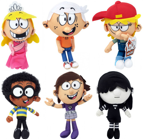 Nickelodeon Loud House Lola, Luna, Clyde, Lana, Lucy & Lincoln Set of 6 Plush