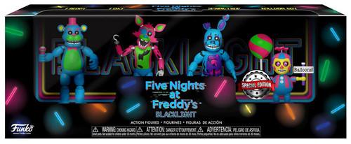 Funko Five Nights at Freddy's Blacklight Freddy, Foxy, Springtrap & Balloon Boy Exclusive 2-Inch Mini Figure 4-Pack