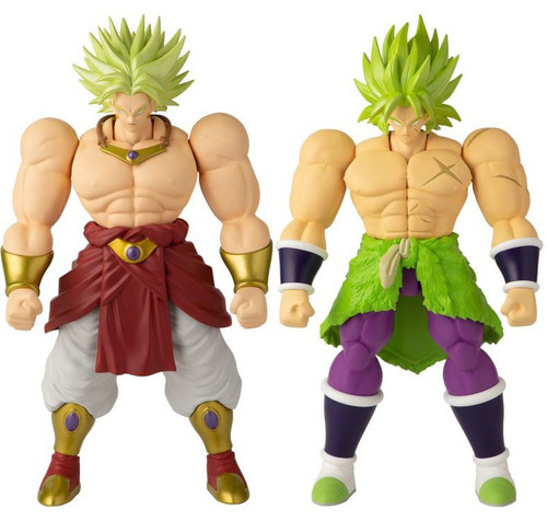 Dragon Ball Super - Broly Movie Limit Breaker Series 1 Super Saiyan Broly & Movie Version Broly Set of 2 Action Figures