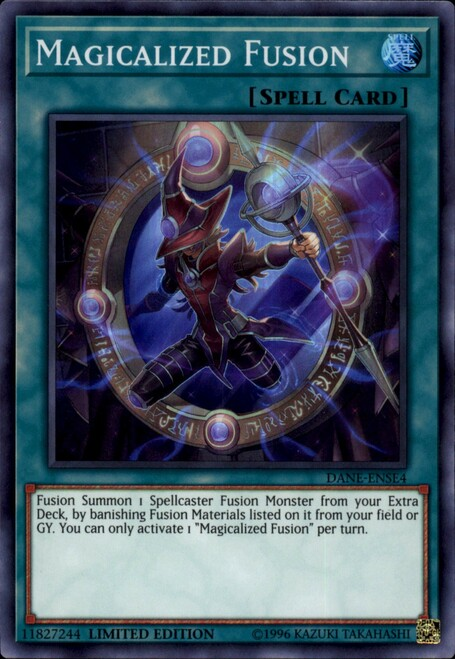 YuGiOh Dark Neostorm Super Rare Magicalized Fusion DANE-ENSE4