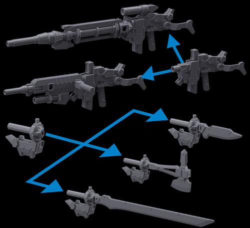 30 Minute Missions 30 MM Option Weapon 1 for Alto Model Kit Accessory #01