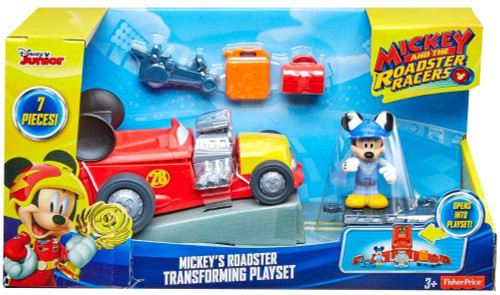 Fisher Price Disney Mickey & Roadster Racers Mickey's Roadster Transforming Playset