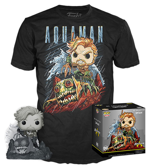 Funko DC Collection by Jim Lee POP! Heroes Aquaman Exclusive Vinyl Figure & T-Shirt [X-Large]