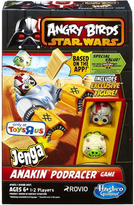 Star Wars Angry Birds Jenga Anakin Podracer Exclusive Game
