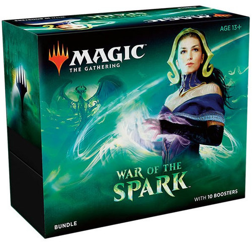 MtG Trading Card Game War of the Spark Bundle [Includes 10 Booster Packs!]