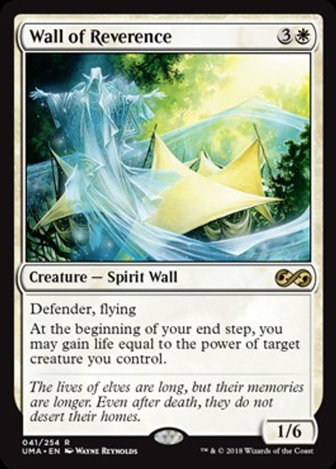 MtG Ultimate Masters Rare Foil Wall of Reverence #41