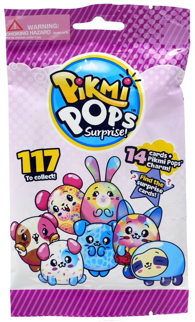 Pikmi Pops Surprise! Trading Card Pack [14 Cards + Pikmi Pop Charm!]