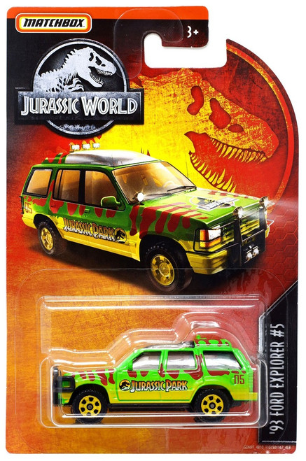 Jurassic World Matchbox '93 Ford Explorer #5 Diecast Vehicle