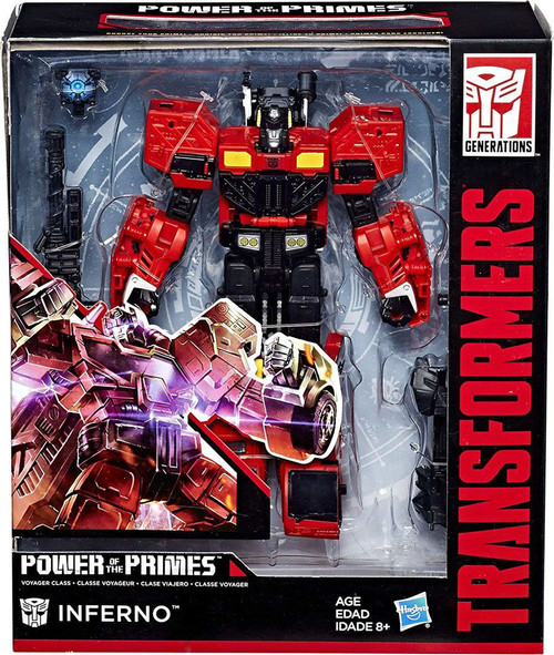 Transformers Generations Power of the Primes Inferno Voyager Action Figure [Damaged Package]