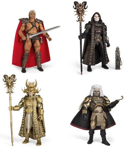 Masters of the Universe William Stout Collection Skeletor, Karg, Hyper Skeletor & He Man Set of 4 Deluxe Action Figures [Collector's Choice]