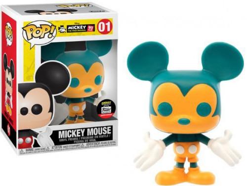 Funko Mickey The True Original POP! Disney Mickey Mouse Exclusive Vinyl Figure #01 [Orange & Teal, 90th Anniversary]