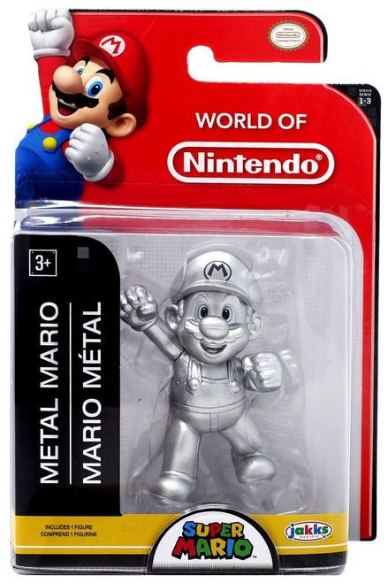 World of Nintendo Super Mario Metal Mario 2.5-Inch Mini Figure [2019]