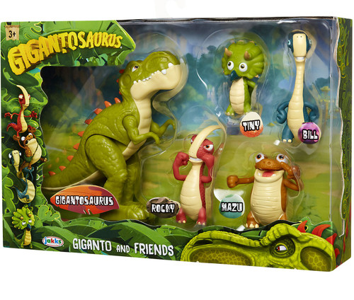 Gigantosaurus Rocky, Bill, Tiny, Mazu & Giganto Mini Figure 5-Pack