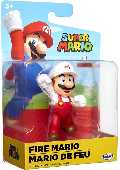 World of Nintendo Super Mario Wave 19 Fire Mario 2.5-Inch Mini Figure [Fist Bump ]