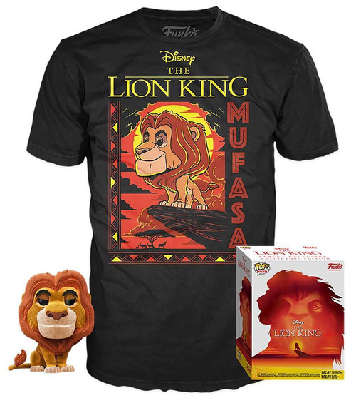 Funko The Lion King POP! Disney Mufasa Exclusive Vinyl Figure & T-Shirt [Large]