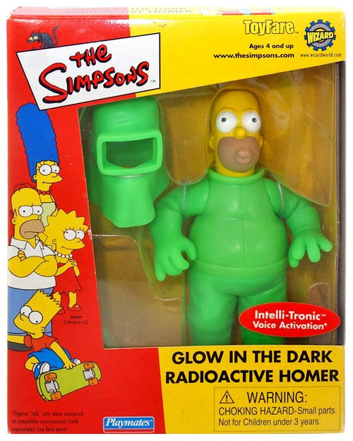 The Simpsons Homer Simpson Exclusive Action Figure [Glow in the Dark Radioactive]