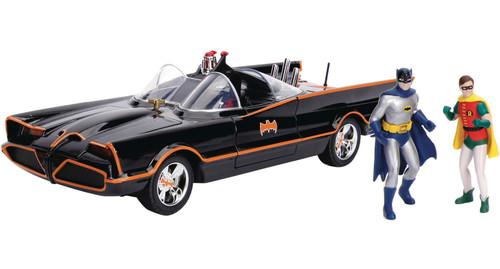 DC Batman 1966 TV Series Batmobile with Batman & Robin Diecast & Light-Up Vehicle