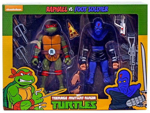 NECA Teenage Mutant Ninja Turtles Raphael & Foot Soldier Exclusive Action Figure 2-Pack
