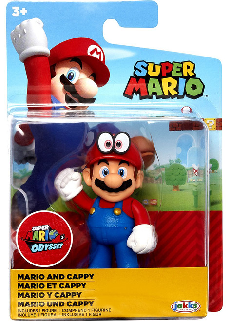 World of Nintendo Super Mario Mario & Cappy 2.5-Inch Mini Figure