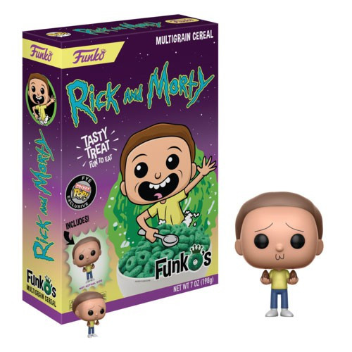 FunkO's Rick & Morty Exclusive 7 Ounce Breakfast Cereal [Morty]