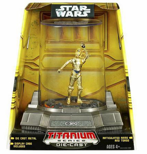 Star Wars A New Hope Titanium Series 2007 C-3PO Diecast Figure [Damaged Package]