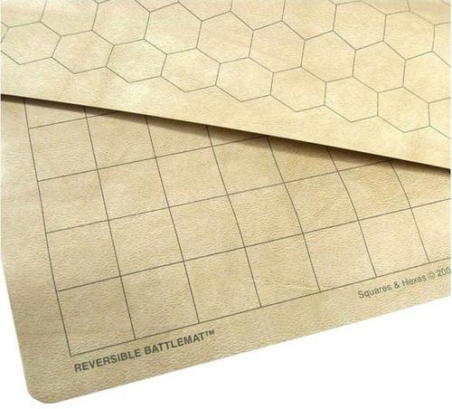 "Chessex 23 1/2"" x 26"" Reversible Battlemat Play Mat [1"" Squares & Hexes]"