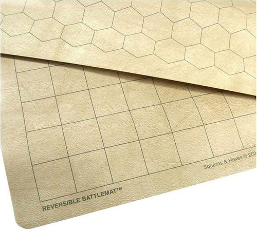 """Chessex 34.5"""" x 48"""" Reversible Megamat Play Mat [1.5"""" Squares & Hexes]"""