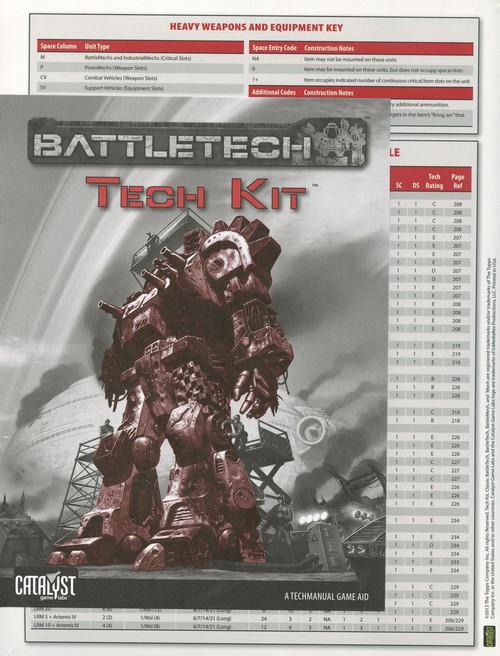 BattleTech Tech Kit Board Game Accessory Book