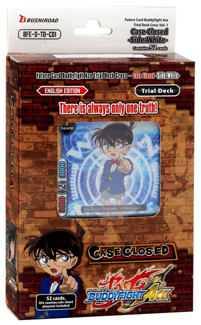 Future Card BuddyFight Trading Card Game Ace Cross Vol. 1 The Case Closed Side: White Ultimate Trial Deck BFE-S-TD-C01