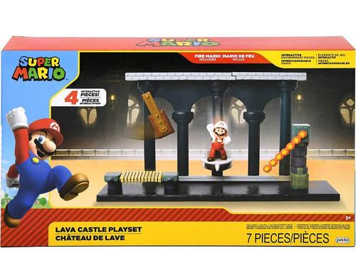 World of Nintendo Super Mario Lava Castle 2.5-Inch Playset