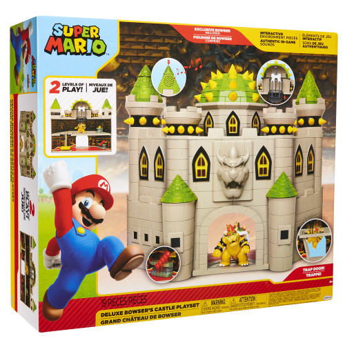 World of Nintendo Super Mario Bowser's Castle Deluxe Playset
