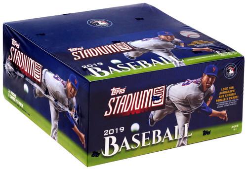MLB Topps 2019 Stadium Club Baseball Trading Card RETAIL Box [24 Packs]