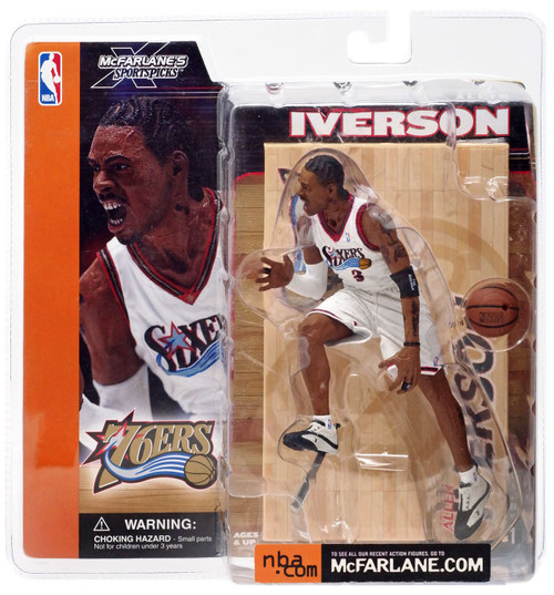 McFarlane Toys NBA Philadelphia 76ers Sports Picks Series 1 Allen Iverson Action Figure [White Jersey]