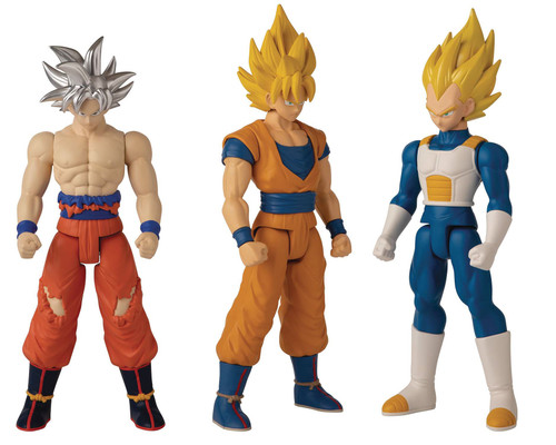 Dragon Ball Super Limit Breaker Series 2 Super Saiyan Goku, Super Saiyan Vegeta & Ultra Instinct Goku Set of 3 Action Figures