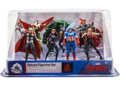 Disney Marvel Avengers Exclusive 10-Piece Deluxe PVC Figure Playset