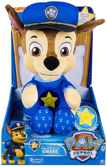 Paw Patrol Snuggle Up Chase Talking Plush [Lights & Sounds, Loose]