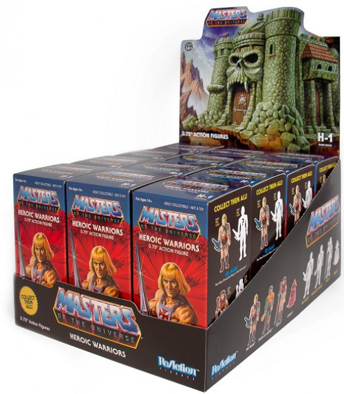 ReAction Masters of the Universe Castle Grayskull Heroic Warriors 3.75-Inch Mystery Box [12 Packs]