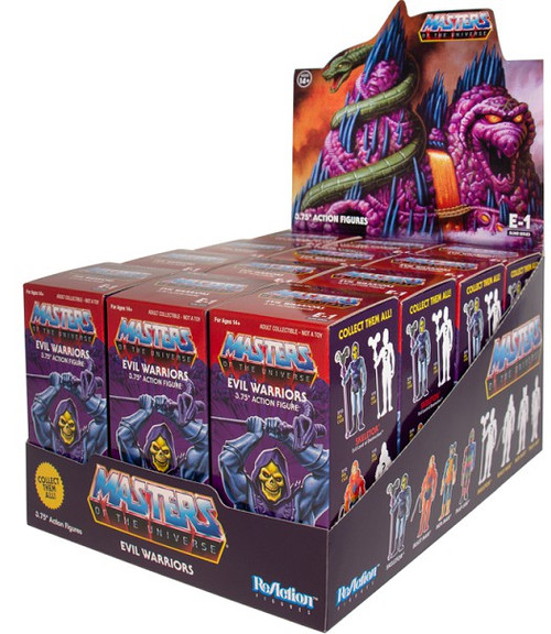ReAction Masters of the Universe Snake Mountain Evil Warriors 3.75-Inch Mystery Box [12 Packs]