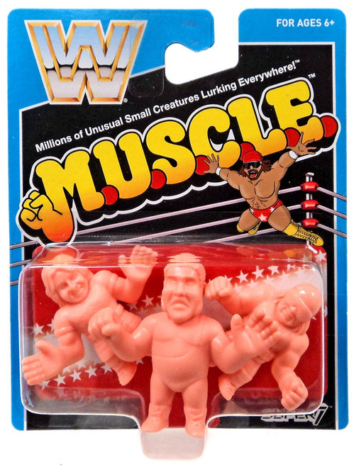WWE Wrestling M.U.S.C.L.E. Andre the Giant, Macho Man Randy Savage & Rowdy Roddy Piper 3-Pack [Damaged Package]