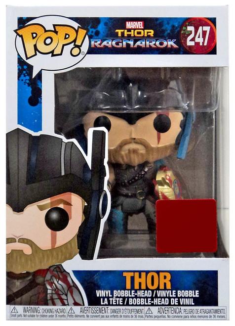 Funko Thor: Ragnarok POP! Marvel Thor Exclusive Vinyl Bobble Head #247 [Wearing Helmet, Damaged Package]
