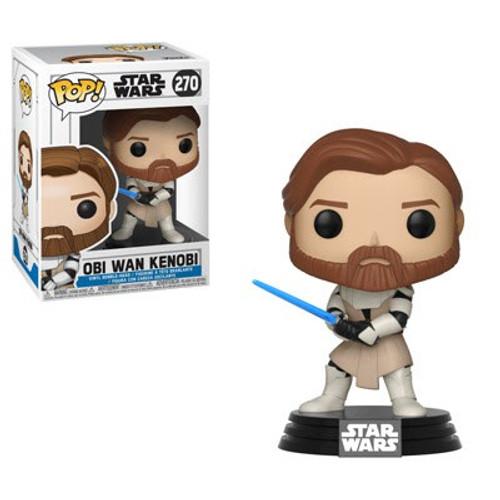Funko The Clone Wars POP! Star Wars Obi-Wan Kenobi Vinyl Bobble Head #270 [Clone Wars, Damaged Package]