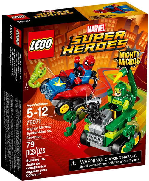 LEGO Marvel Super Heroes Mighty Micros Spider-Man vs. Scorpion Set #76071 [Damaged Package]