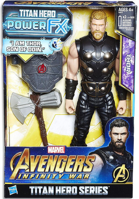 Marvel Avengers Infinity War Titan Hero Series Power FX Thor Action Figure [Damaged Package]