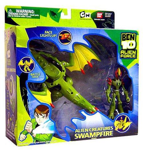 Ben 10 Alien Force Alien Creatures Swampfire Action Figure Set [Damaged Package]
