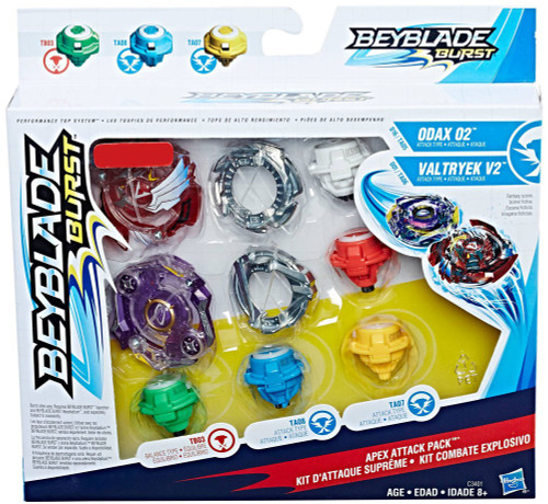 Beyblade Burst Odax 02 & Valtryek V2 Exclusive Dual Pack [Apex Attack Pack, Damaged Package]