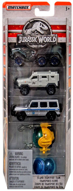 Matchbox Jurassic World Die Cast Car 5-Pack [Damaged Package]