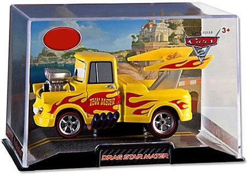 Disney / Pixar Cars Cars 2 1:43 Collectors Case Drag Star Mater Exclusive Diecast Car [Damaged Package]