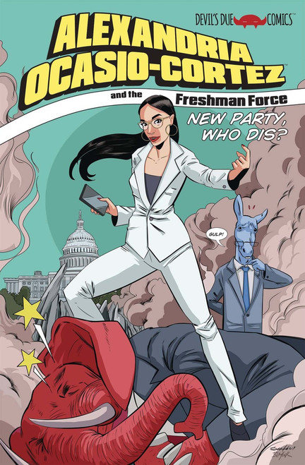 Devils Due / First Comics Alexandria Ocasio-Cortez & The Freshmen Force New Party, Who Dis? Comic Book [One Shot]