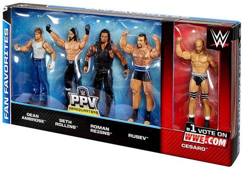 WWE Wrestling 2015 WWE Fan Favorites Exclusive Action Figure 5-Pack [Damaged Package]