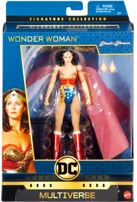 DC Multiverse Signature Collection Wonder Woman Action Figure [1975, Lynda Carter, Damaged Package]